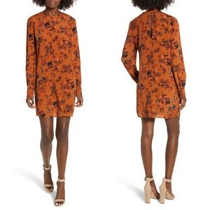 🔥SALE [Nordstrom] Leith Orange Floral Shift Dress